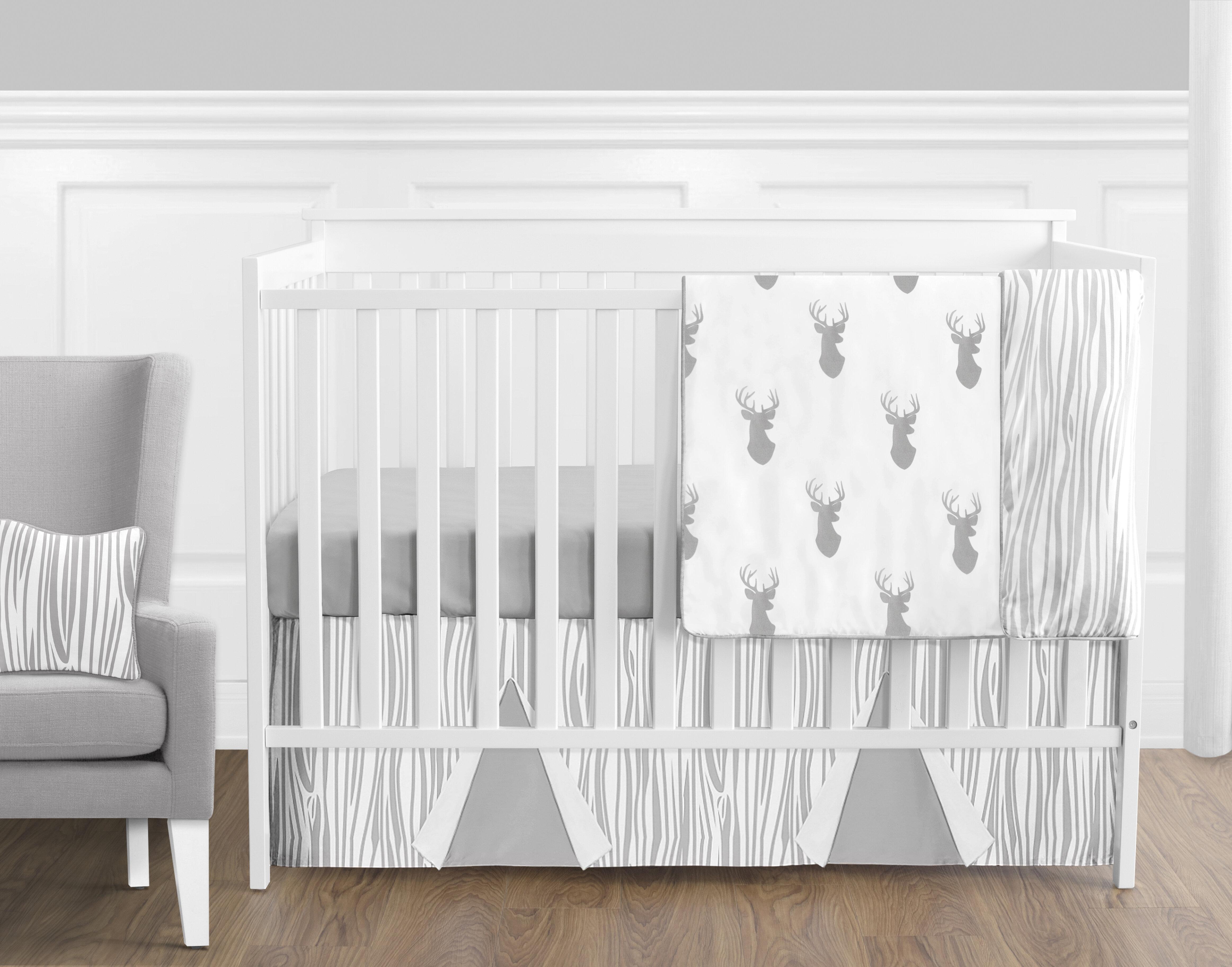 Sweet Jojo Designs 9 Piece Gray And Turquoise Chevron Zig Zag Gender Neutral Baby Bedding Boy Or Girl Crib Set Sets