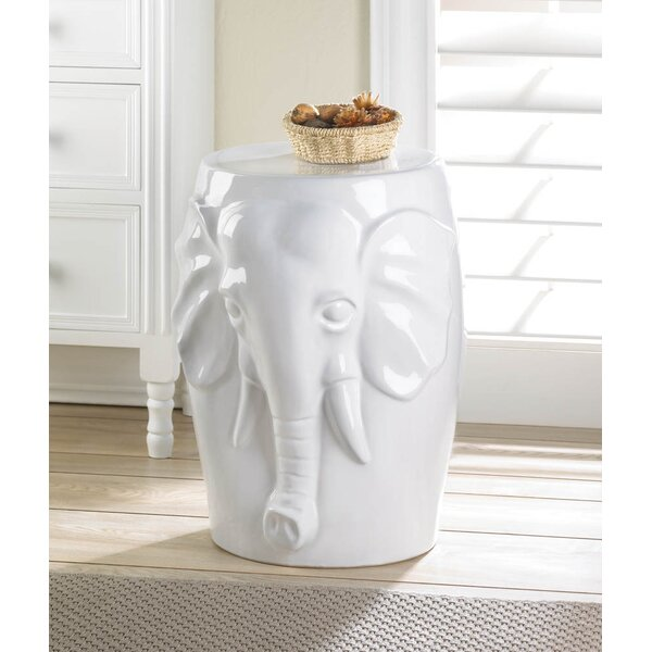 Tylersburg Elephant Ceramic Decorative Stool by World Menagerie World Menagerie