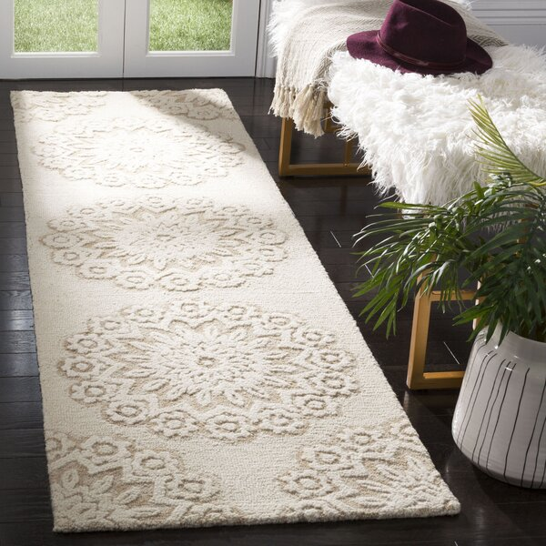 Jahiem Hand Tufted Wool Ivory Area Rug by Bungalow Rose