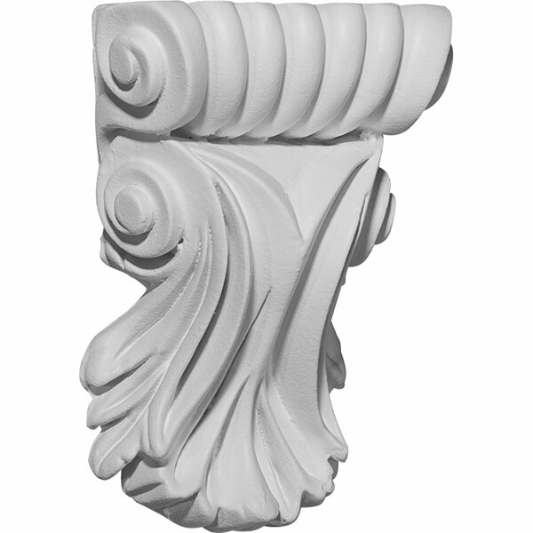 Scroll 5 1/4H x 3 7/8W x 1 1/4D Leaf Corbel by Ekena Millwork