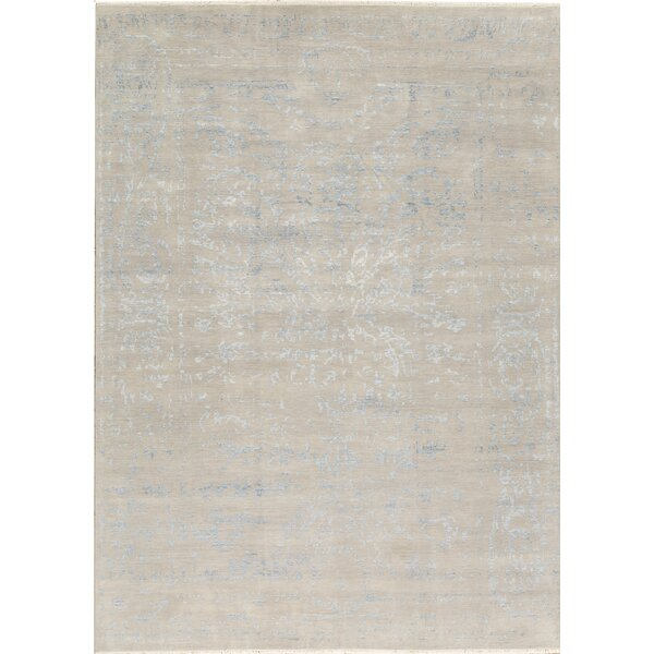 One-of-a-Kind Brookhaven Hand-Knotted Beige 10' x 13'11 Area Rug