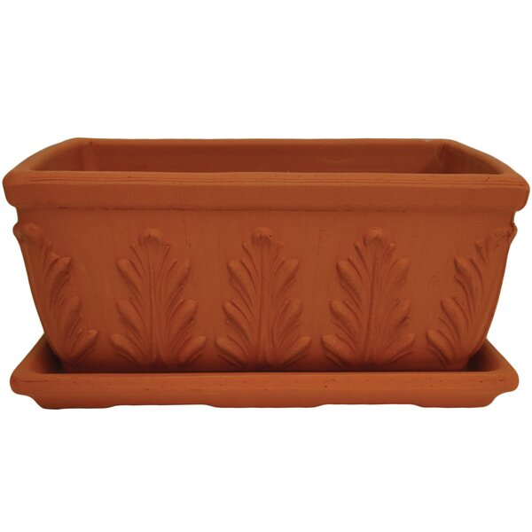 Cade 2 Piece Terracotta Window Box Planter Set by August Grove