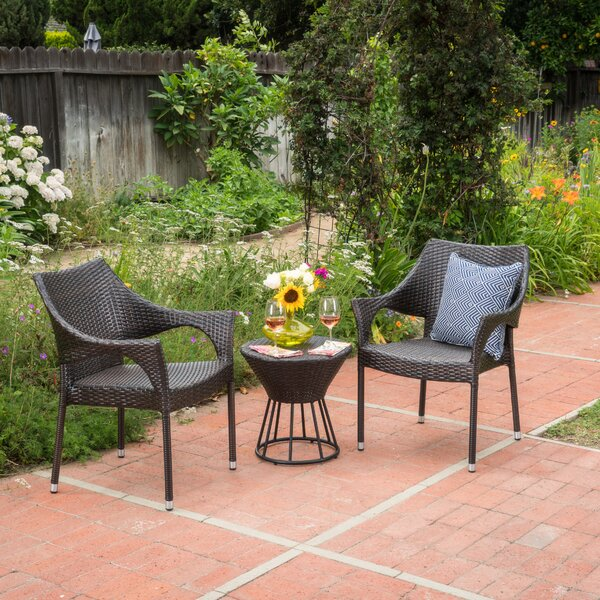 Winsett 3 Piece Seating Group by Wrought Studio