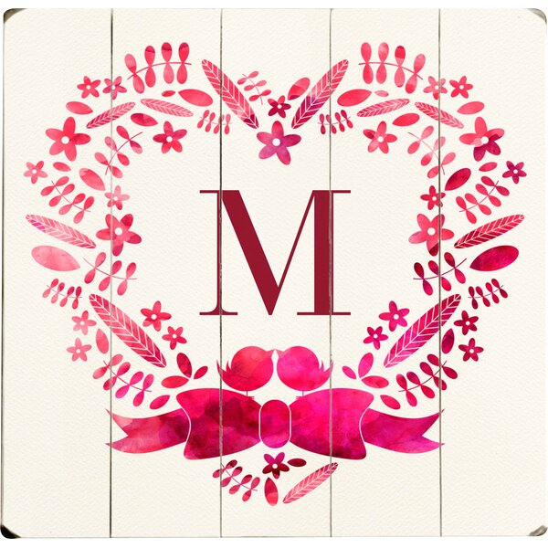 Personalized Heart Graphic Art Multi-Piece Image on Wood by Artehouse LLC