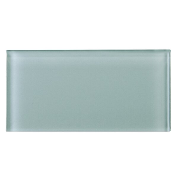 3 x 6 Glass Tile in Gray by Multile