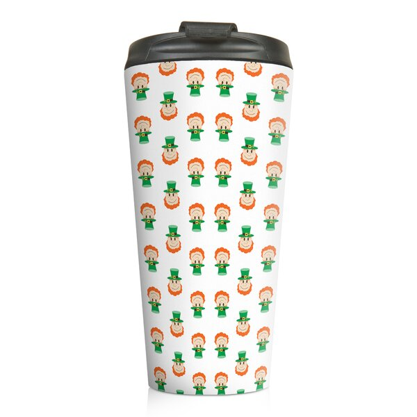 Billiot Tiny Leprachaun Pattern Travel Mug by The Holiday Aisle