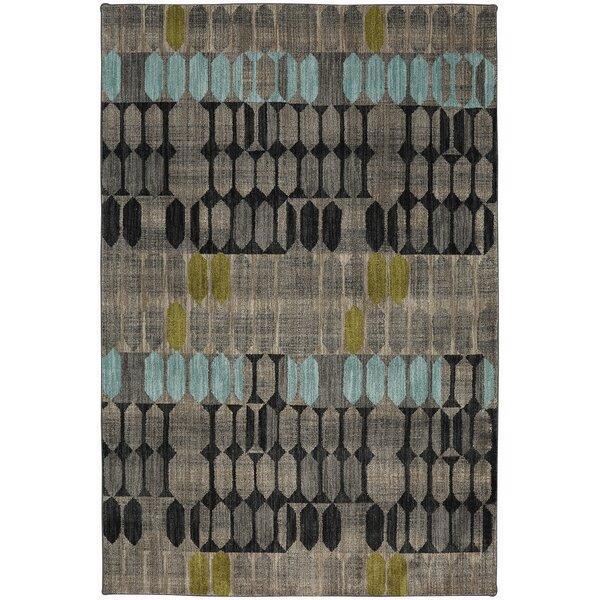 Metropolitan Gray/Black Area Rug by Mohawk Home