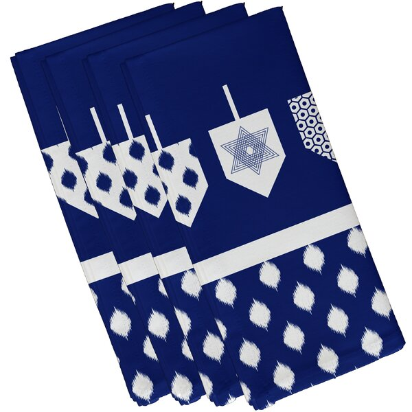 Dreidels Geometric Print Napkin (Set of 4) by The Holiday Aisle