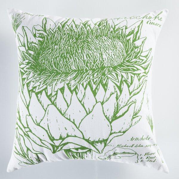 Uruli Artichoke Cotton Throw Pillow By Koko Company