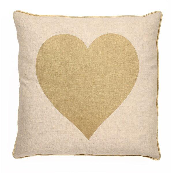 Elliott Big Heart Throw Pillow by Ivy Bronx