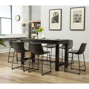 Affordable Bamey 7 Piece Counter Height Dining Set by Trent Austin Design