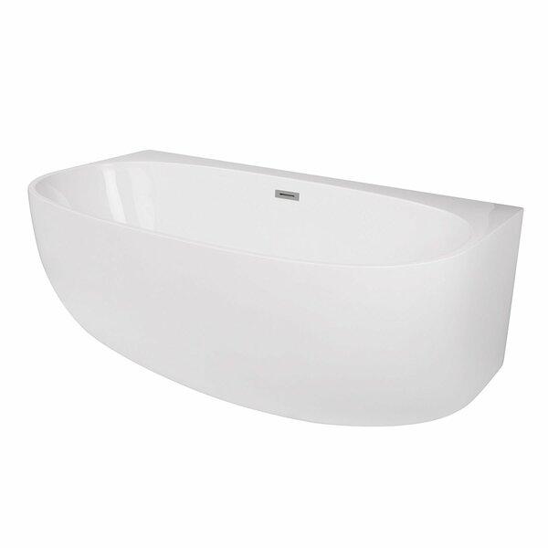 Ocala Acrylic 58 x 33 Alcove Soaking Bathtub by Maykke