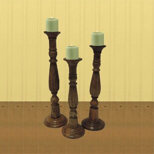 11494a8d2b7 Tall / Large Wood Candle Holders You'll Love in 2019 | Wayfair