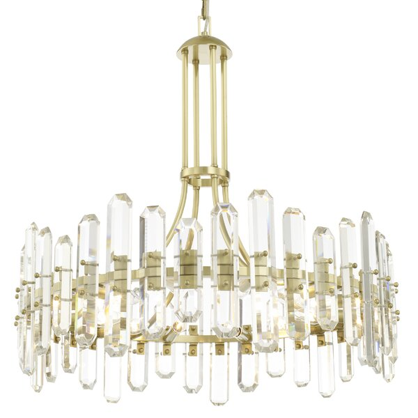 Hegwood 12-Light Crystal Chandelier by Mercer41