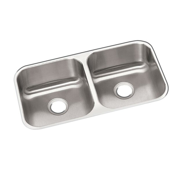 Dayton 32 L x 18 W Double Basin Undermount Kitchen Sink by Elkay