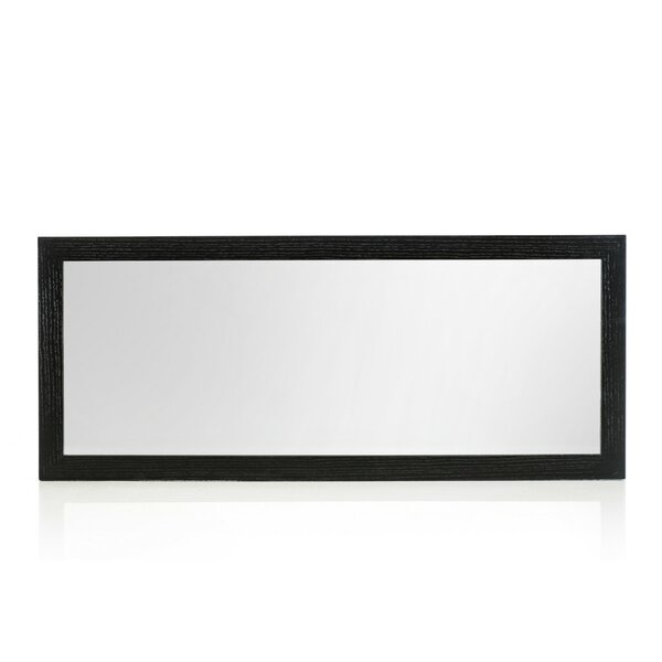 Rectangle Black Oak Wall Mirror by Wade Logan