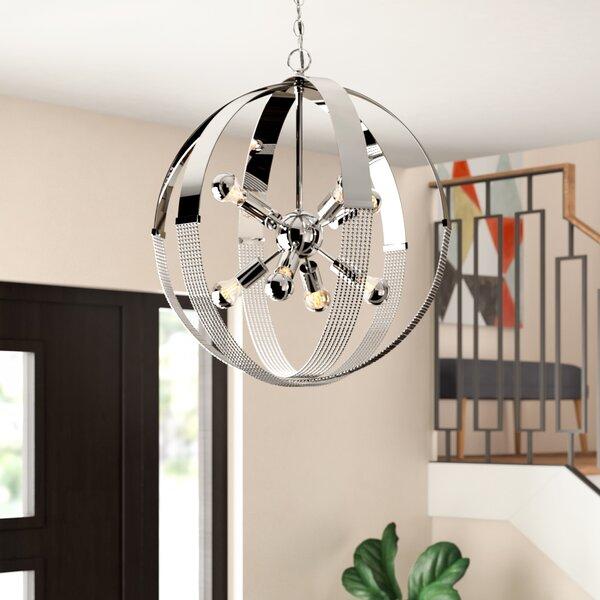Branscome 8 - Light Sputnik Sphere Chandelier with Rope Accents by Brayden Studio Brayden Studio