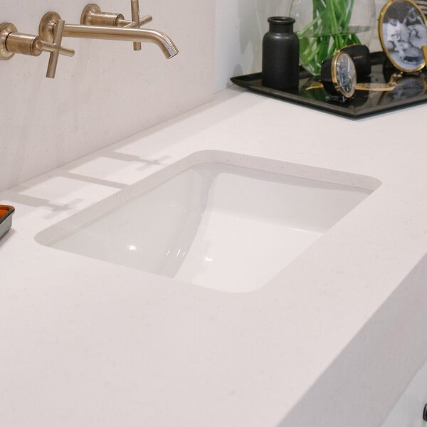 Ladena Ceramic Rectangular Undermount Bathroom Sink with Overflow by Kohler