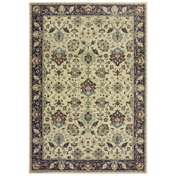 Salgado Vintage Border Ivory Area Rug by Charlton Home
