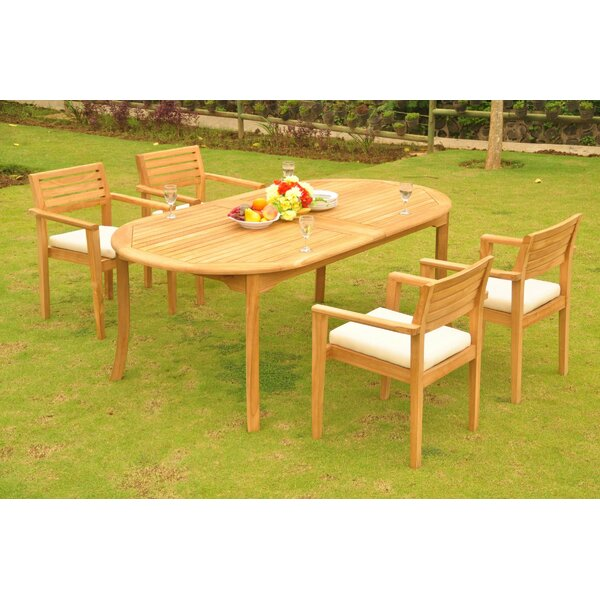 Sunnydale 5 Piece Teak Dining Set by Rosecliff Heights
