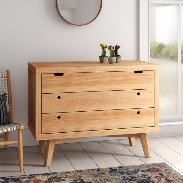 Torrey Retro 3 Drawer Dresser By Mistana by Mistana Fresh