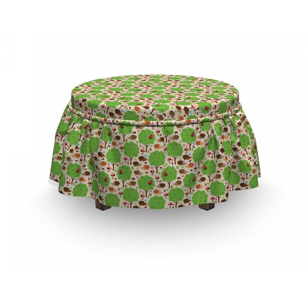 Hedgehogs And Trees Ottoman Slipcover (Set Of 2) By East Urban Home