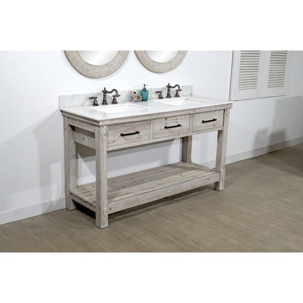 Everett 61 Double Bathroom Vanity Set by Millwood Pines