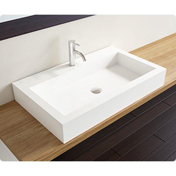 Polymarble Rectangular Vessel Bathroom Sink by Badeloft