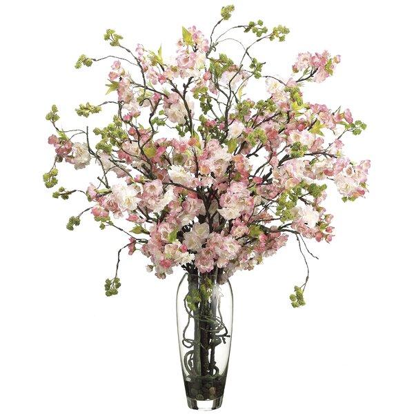 Cherry Blossom Floral Arrangement in Decorative Vase by Rosdorf Park