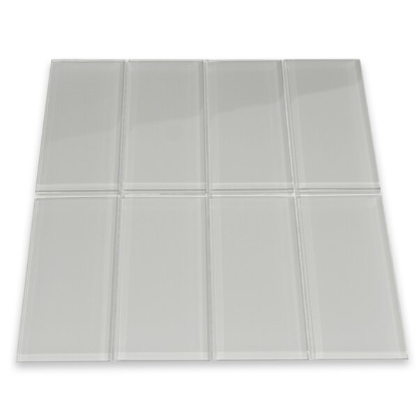 Lithium 3 x 6 Glass Mosaic Tile in Smoke by CNK Tile