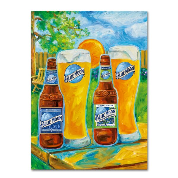 Spring by Blue Moon Painting Print on Wrapped Canvas by Miller Coors