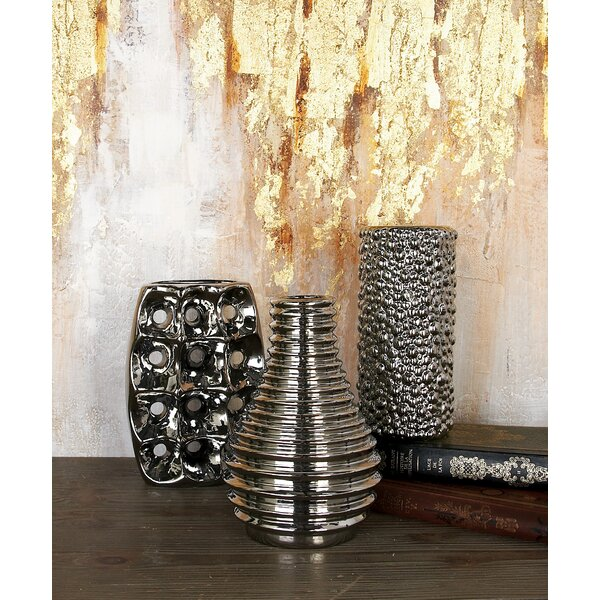 Fluker Ceramic Vase Set (Set of 3) by Bloomsbury Market