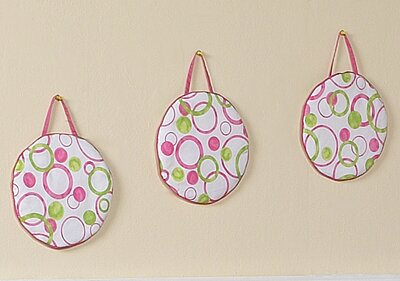 3 Piece Circles Pink Hanging Art Set by Sweet Jojo Designs