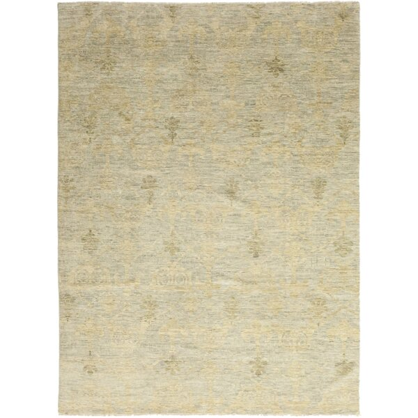 One-of-a-Kind Villante Hand-Knotted Wool Beige Indoor Area Rug by Bloomsbury Market