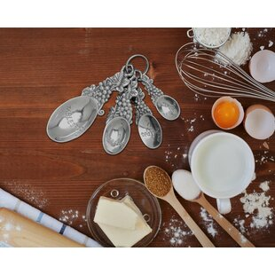 4 Piece Grape Measuring Spoon Set ByArthur Court Designs