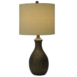 Hammered copper lamp wayfair abastos hammered 235 table lamp mozeypictures Image collections