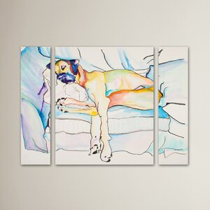 Sleeping Beauty Pat Saunders-White 3 Piece Painting Print on Wrapped Canvas Set by Red Barrel Studio