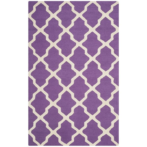 Charlenne Hand-Tufted Purple/Ivory Area Rug by Zipcode Design