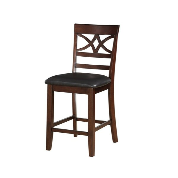 Holquin Wood And Leather 24 Bar Stool (Set of 2) by Charlton Home