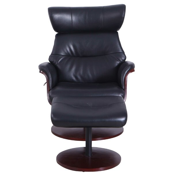 Review Peppino Manual Swivel Recliner With Ottoman