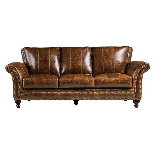 De Foix Leather Sofa by Canora Grey
