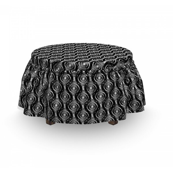 Round Spirals Ottoman Slipcover (Set Of 2) By East Urban Home