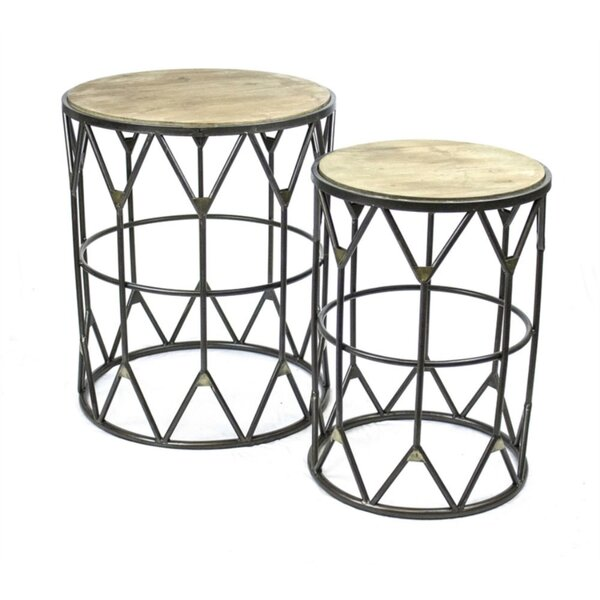 Penman Cultured 2 Piece Nesting Tables by Union Rustic