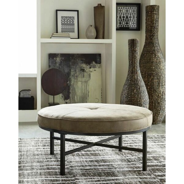 Roza Tufted Ottoman by Union Rustic