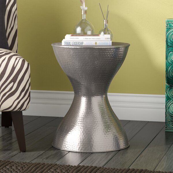 Lucian Metal Accent Stool by World Menagerie
