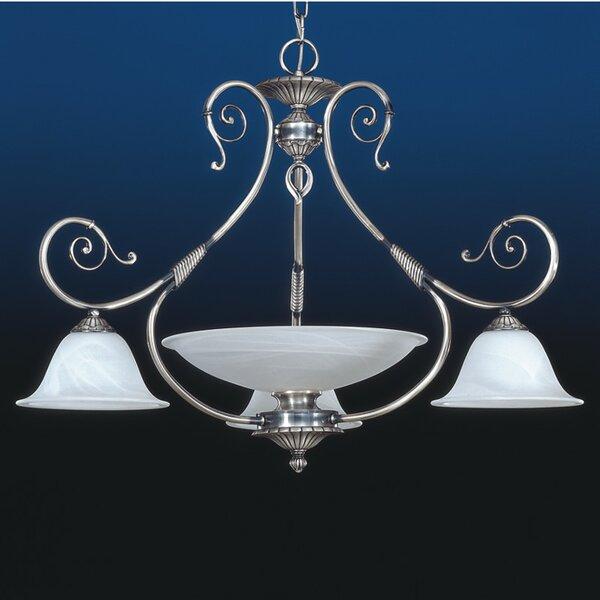 Alava 4 - Light Shaded Empire Chandelier By Zanin Lighting Inc.