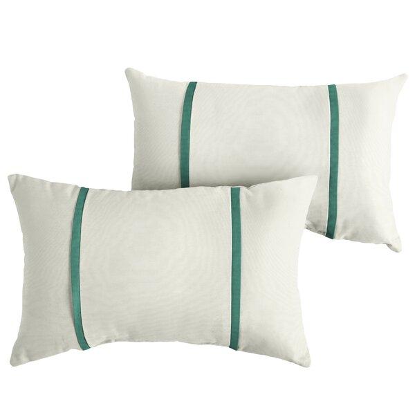 Follett Indoor/Outdoor Sunbrella Lumbar Pillow (Set of 2) by Charlton Home