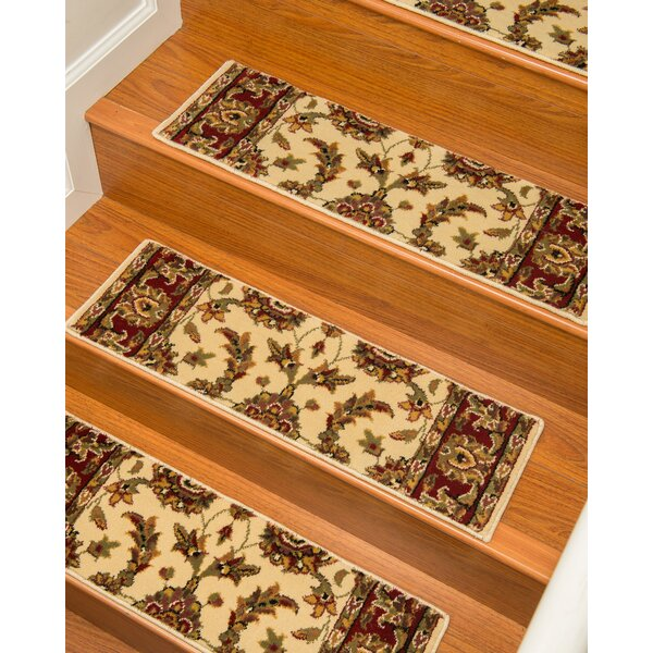 Sydney Cream Classic Persian Stair Tread (Set of 13) by Natural Area Rugs