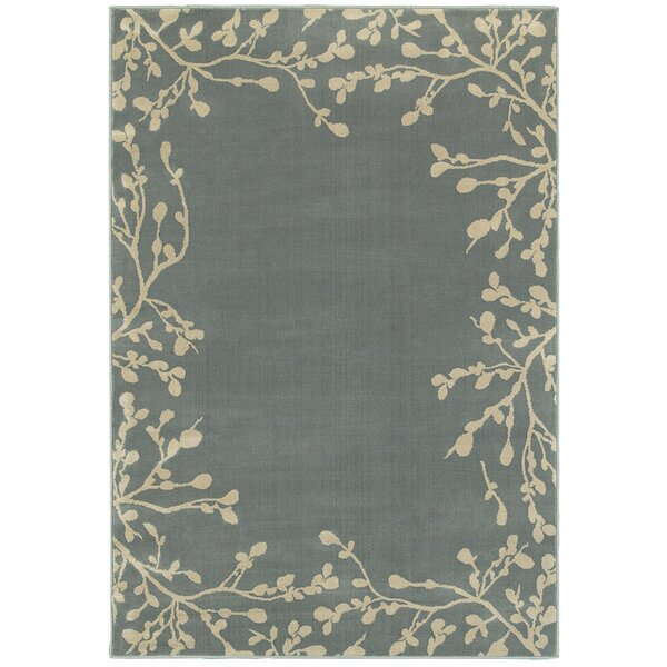 Gallman Blue/Beige Area Rug by Red Barrel Studio