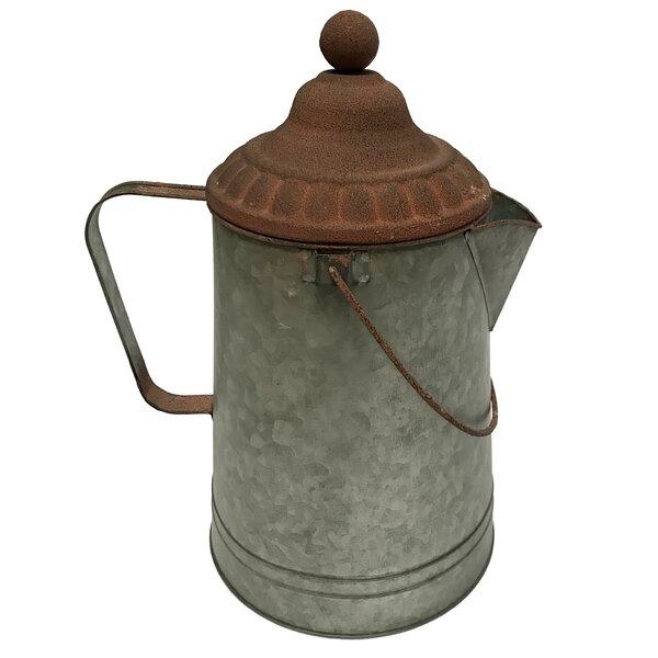Campfire Coffee Metal Pot Planter by Wilco Home